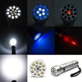 Decaker® Multifunction 15-led 3-mode 50-lumen Flashlight with Blue Uv Light and Red Laser / 3*aaa (Battery Not Included)