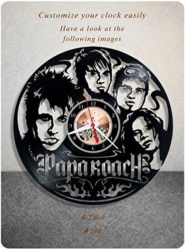 Papa Roach vinyl clock, vinyl wall clock, vinyl record clock rock band nu metal alternative rock wall art home decor 296 - (b2) (Alternative Rock Gifts compare prices)
