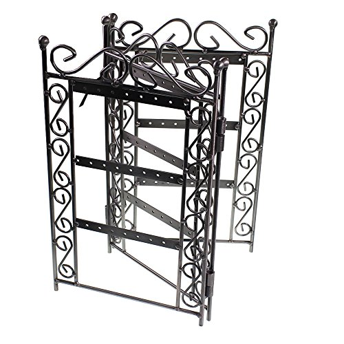 Elegant Brushed Silver Trellis Style Shabby Chic Earring Jewellery Display Holder Stand By Kurtzy Tm front-360260