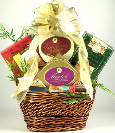 The Scrumptious Sampler Sausage Cheese and Crackers Gourmet Gift Basket