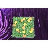 PRIX A L UNITE : Pelouse artificielle DECORATION TABLE carré gazon synthétique avec fleurs 24 x 24 cm