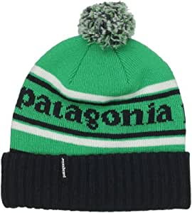Patagonia Powder Town Beanie Bonnet de ski mixte adulte Park Stripe: Brilliant Green Taille Unique