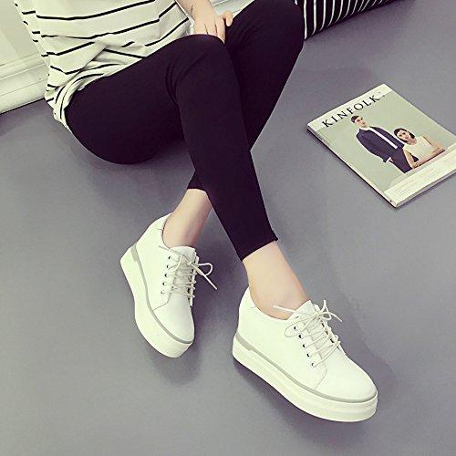 GGH Signore lavoro confortevole slittamento sui fannulloni delle donne scarpe casual White,35