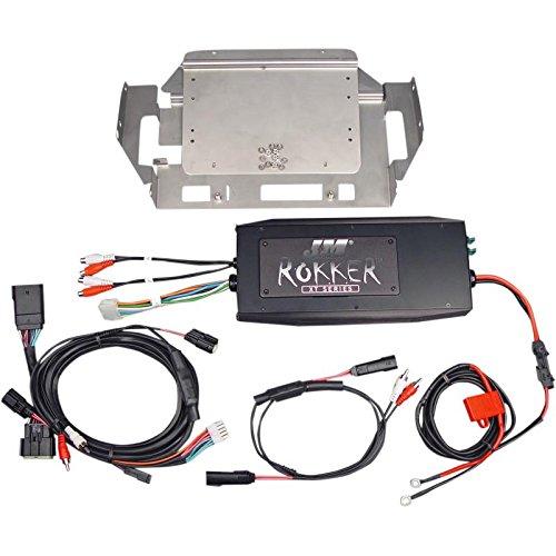 J&M Rokker Series 500 Watt 4-Channel Amplifier Kit Fairing Speaker/Rear Amplifi - One Size
