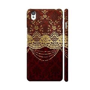 Colorpur Vintage Shabby Chic Luxury Gold Lace On Purple Damask Artwork On OnePlus X Cover (Designer Mobile Back Case) | Artist: UtART