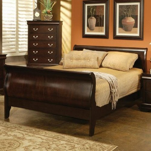 Haverty's Orleans Queen Grand Sleigh Bed, Cherry $599