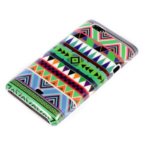 deinPhone Sony Xperia Miro ST23i HARDCASE Hülle Case Zick Zack Muster Grün