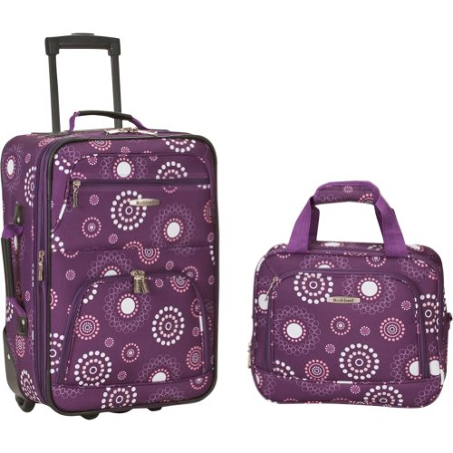 Rockland Luggage Two-Piece Printed Luggage Set