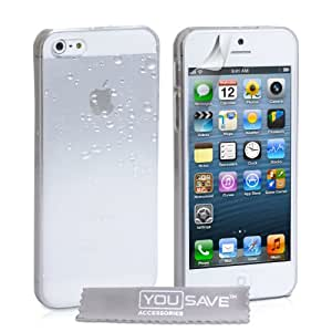 Yousave Accessories Coque pour iPhone5/5S Blanc/Transparent