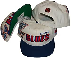 St. Louis Blues Two Tone Snapback Adjustable Snap Back Hat / Cap