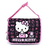 Sanrio Hello kitty Messenger Bag - Black Tulip Flowers Large Bag