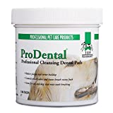 Top Performance ProDental Cleansing Pads - Safe and Effective Pads for Cleaning Pets' Teeth and Gums, 100-Pack