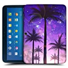 Head Case Designs Purple Summer Silhouettes Protective Snap-on Hard Back Case Cover for Samsung Galaxy Tab 3 10.1 P5200 P5210