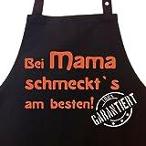 Ideen für Muttertag Geschenke Witzige Muttertagsgeschenke - Sch�rze: Bei MAMA schmeckt`s am besten! Garantiert!