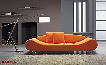 Calia Maddalena - Poltrona - 160x72x92 cm in Pelle Buffalo Panna per Divano design Pamela
