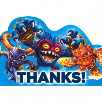 Skylanders Postcard Thank You Notes 8 Count-2Pack