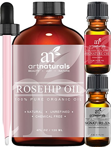 Art-Naturals-Rosehip-Seed-Oil-3-Piece-Set-100-Certified-Organic-Pure-Virgin-Cold-Pressed-Unrefined-4oz-Best-Natural-moisturizer-to-heal-Dry-Skin-Fine-Lines-Scars