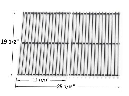 8.5mm Heavy Duty Stainless Steel Cooking Grates Compatible with 7528 Weber Genesis E and S series gas grills Models