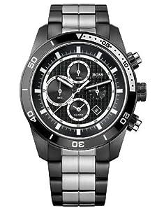 Hugo Boss 1512657 46mm Chronograph Alarm Black Ion Coated Steel Men's Watch
