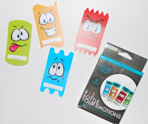 Bottle Your Emotions Baby Bottle Labels