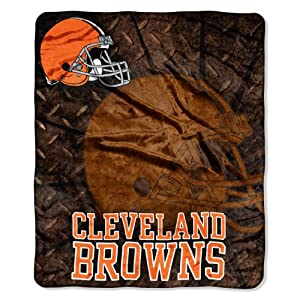 NFL Cleveland Browns Roll Out Royal Plush Raschel Throw Blanket, 50x60-Inch by Northwest