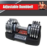 Adjustable Dumbbell - 10lbs to 50lbs with Easy Lock Technology
