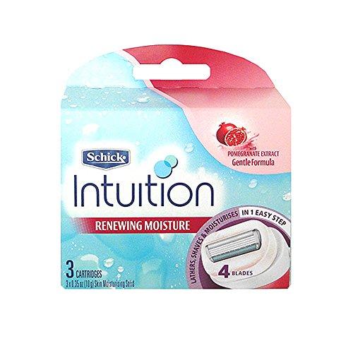 Schick Intuition Renewing Moisture Razor Refill Cartridges, 3 count