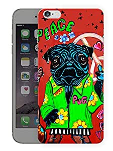 """Humor Gang Peace Says The PugPrinted Designer Mobile Back Cover For """"Apple Iphone 6-6S"""" (3D, Matte, Premium Quality Snap On Case)..."""