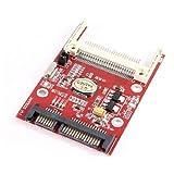 uxcell CF-SATAアダプター HDDアダプタカード SATA変換アダプター 7+15ピンオス ハードディスクドライブ コンバーター