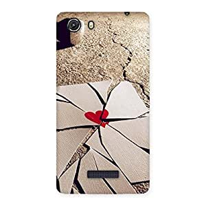 Special Broken Heart Ace Print Back Case Cover for Micromax Unite 3