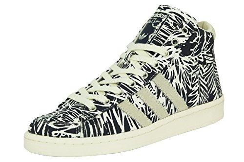 Adidas JABBAR MID Scarpe da Moda Sneakers Blu Bianco per Uomo Abdul Jabbar Pallacanestro