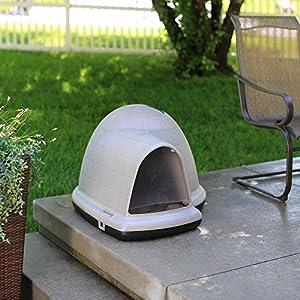 Petmate Indigo Dog House with Microban, X Large, Taupe Top, Black Bottom