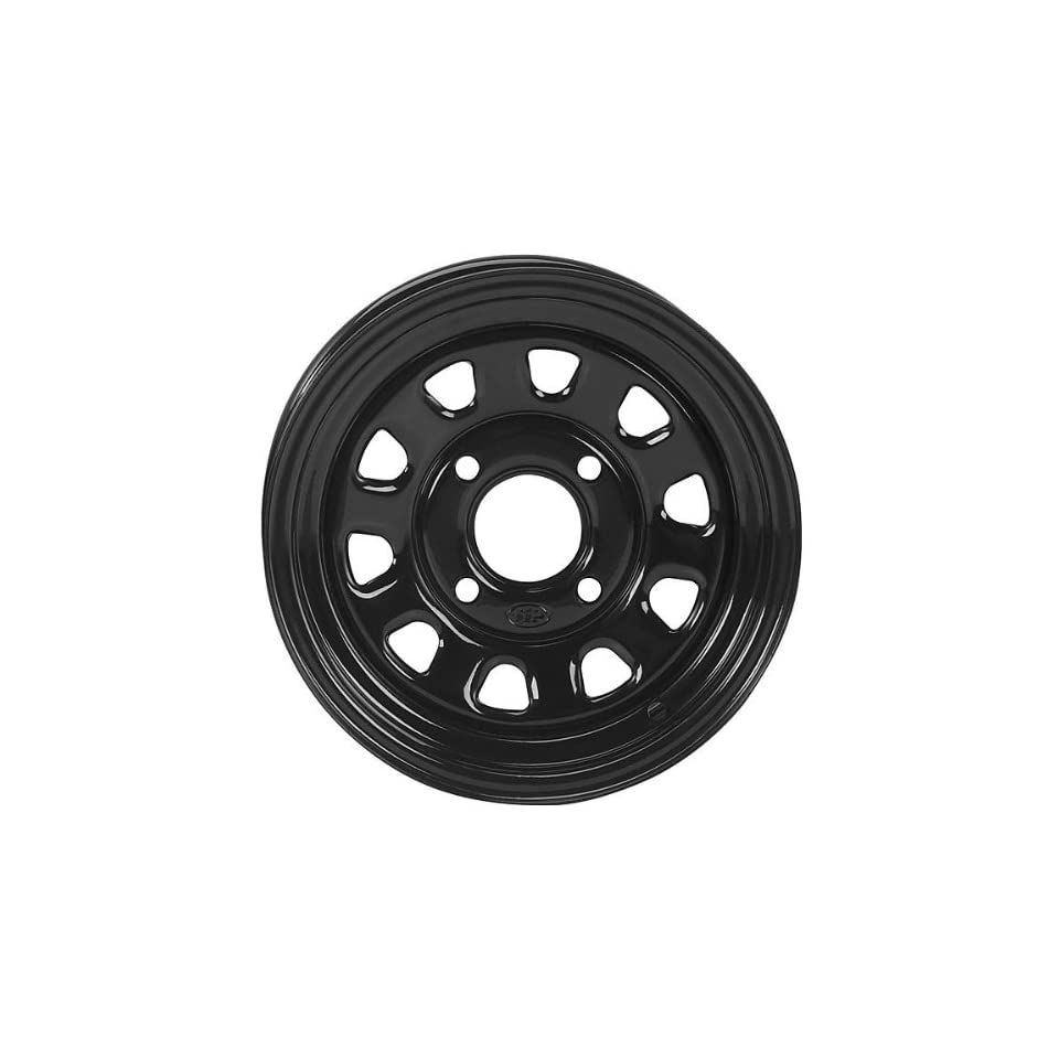 ITP Delta Steel Wheel   12x7   5+2 Offset   4/137   Black, Wheel Rim Size 12x7, Rim Offset 5+2, Color Black, Bolt Pattern 4/137 1225573014