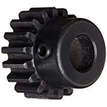 Martin Spur Gear, 14.5° Pressure Angle, High Carbon Steel, Inch, 20 Pitch