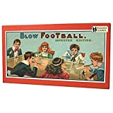 BLOW FOOTBALL Table top fun for football fans Vintage edition of an early 1900s popular game Contains everything you need to enjoy this fun family game