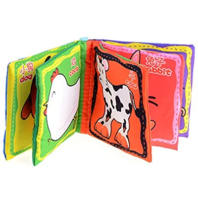 1pc Intelligence Development Cloth Cognition Book Learning & Activity Toys for Kids Baby (Farm Animal) from seguryy