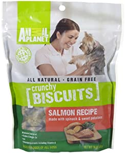AMERICAN FARMS 481049 Animal Planet Treats Crunchy Biscuit Salmon with Spinach and Sweet Potato, 16-Ounce