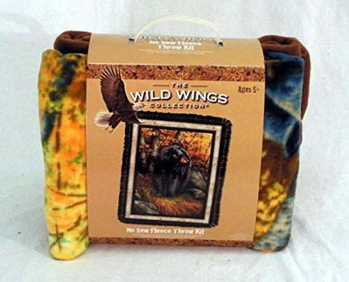 Wild Wings Kings Dominion Bear No-Sew Fleece Throw Kit front-374550