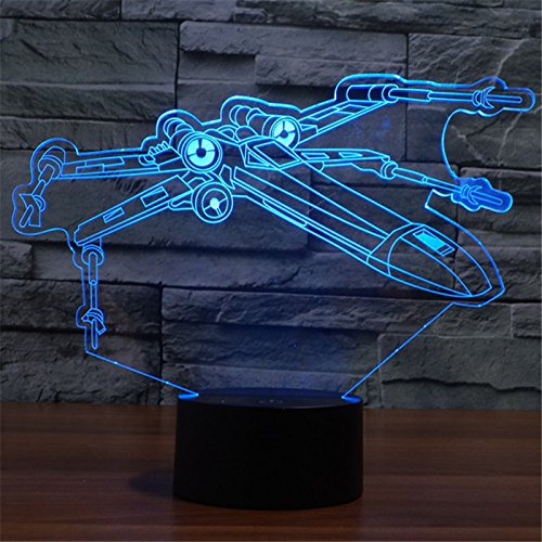 Star Wars 3D X Wing Starfighter Night Light