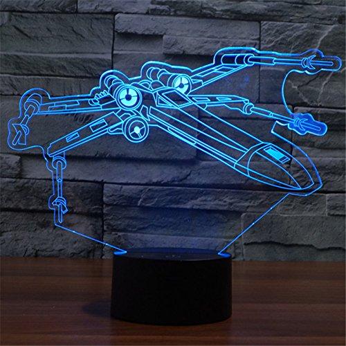 Star Wars 3D X Wing Starfighter Night Light