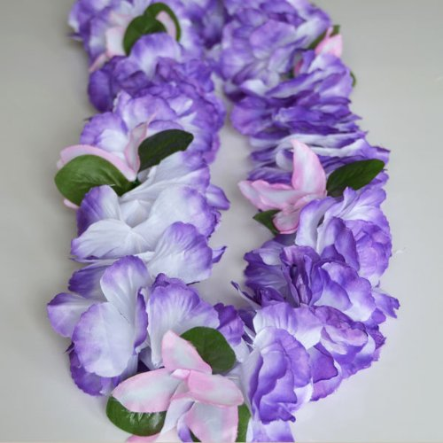 Premium Hawaiian Lei - Paradise Petunia w/ Orchids in Purple