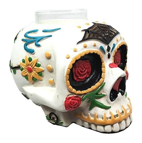 Day Of The Dead Sugar Skull Tea Light Holder