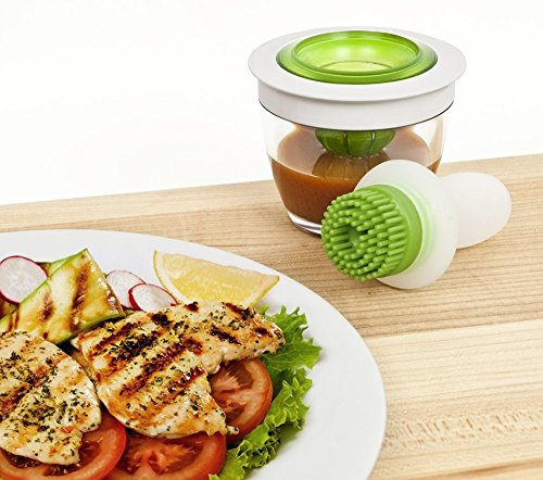 Elsley Silicone Kitchen Basting Brush Set-Silicone Brush and Glass Jar Set,Cooking Oil Brushing for Meats or Your Fry Pan