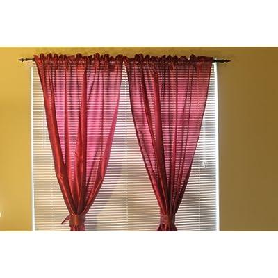Ikea Felicia pair of curtains 2 panels 57x118 Purple Lilac nice silk