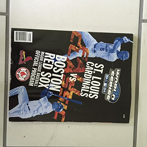 2004 MLB World Series Program Boston Red Sox vs St Louis Cardinals (2004 World Series Program compare prices)