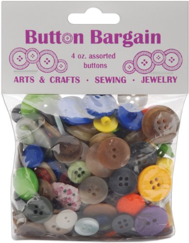 Button Bargain 4 Oz: Assorted Colors