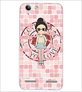 PrintDhaba Girl with spectacles D-4065 Back Case Cover for LENOVO VIBE K5 PLUS (Multi-Coloured)