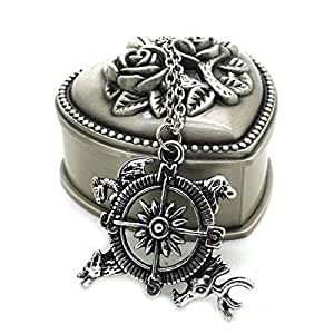 game of thrones compass collier pendentif heart box. Black Bedroom Furniture Sets. Home Design Ideas
