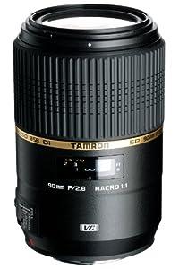 Tamron F004N SP AF 90 mm F/2.8 Di VC USD MACRO 1:1 - Objetivo para Nikon (distancia focal fija 90mm, apertura f/2.8, estabilizador óptico, macro, diámetro: 58mm) negro