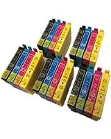 20 XL ColourDirect Haute Capacité Cartouches D'encre Compatibles Pour Epson Stylus S22 SX125 SX130 SX230 SX235W SX420W SX425W SX430W SX435W SX438W SX440W SX445W BX305F BX305FW Plus Imprimantes 5 Noir 5 Cyan 5 Magenta 5 Jaune